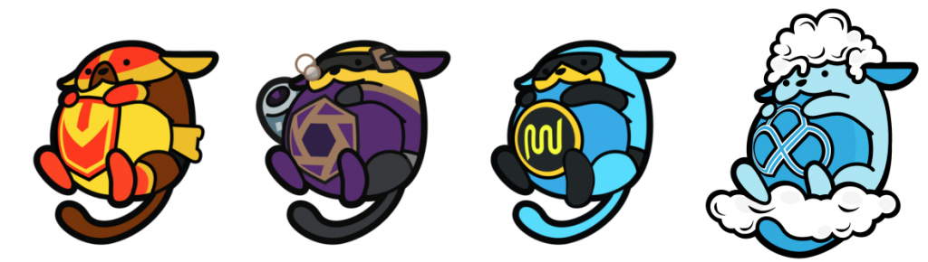 four special edition wapuu designs that will be possible to mint