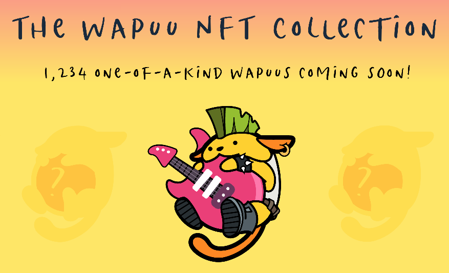 The wapuu NFT collection is 1,234 one-of-a-kind wapuus that are coming soon